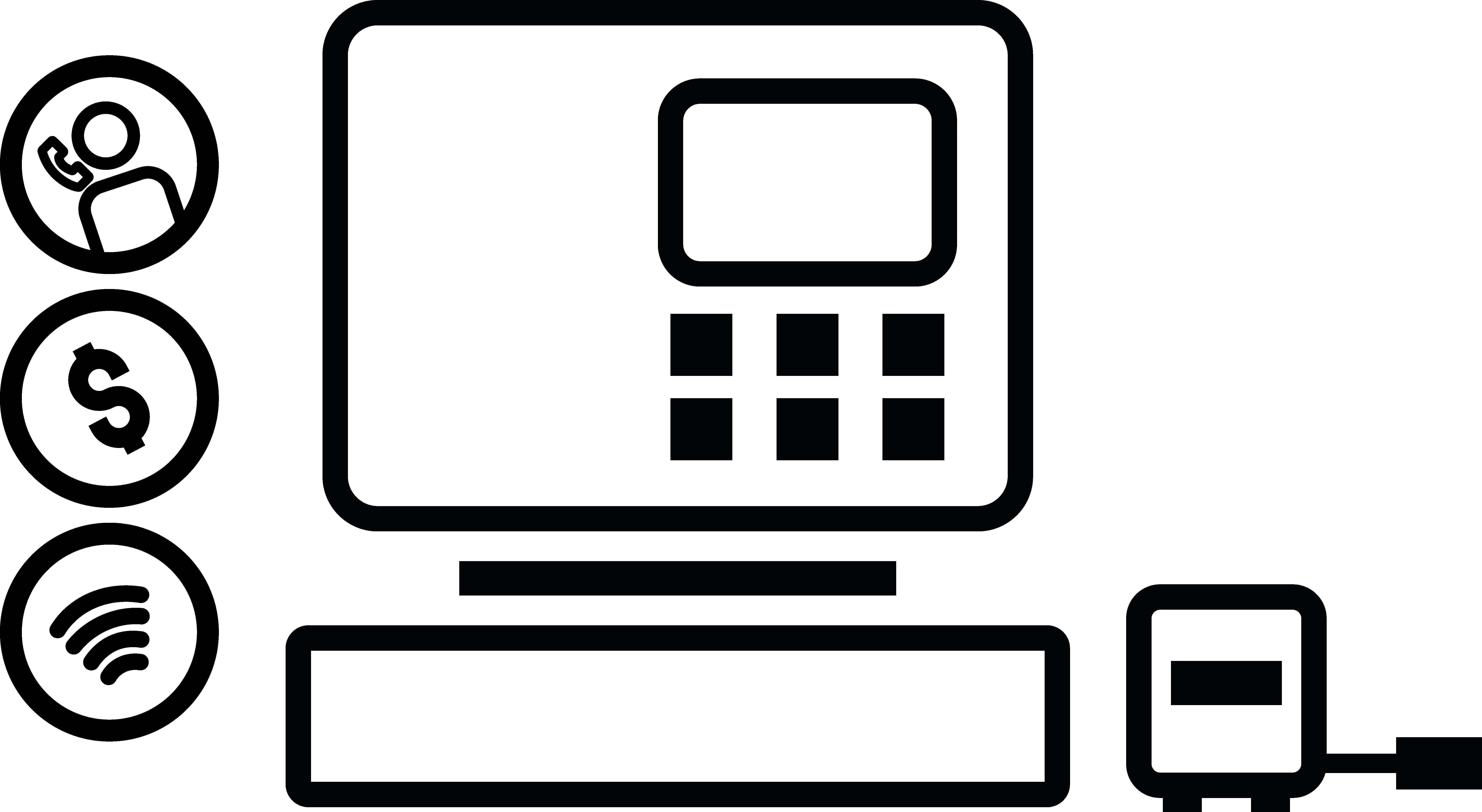 icône caisse engistreuse trivec