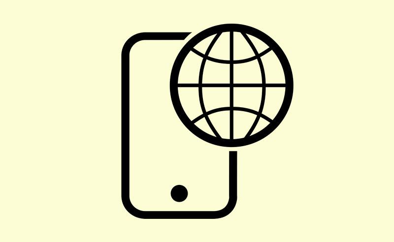 Icône internet téléphone