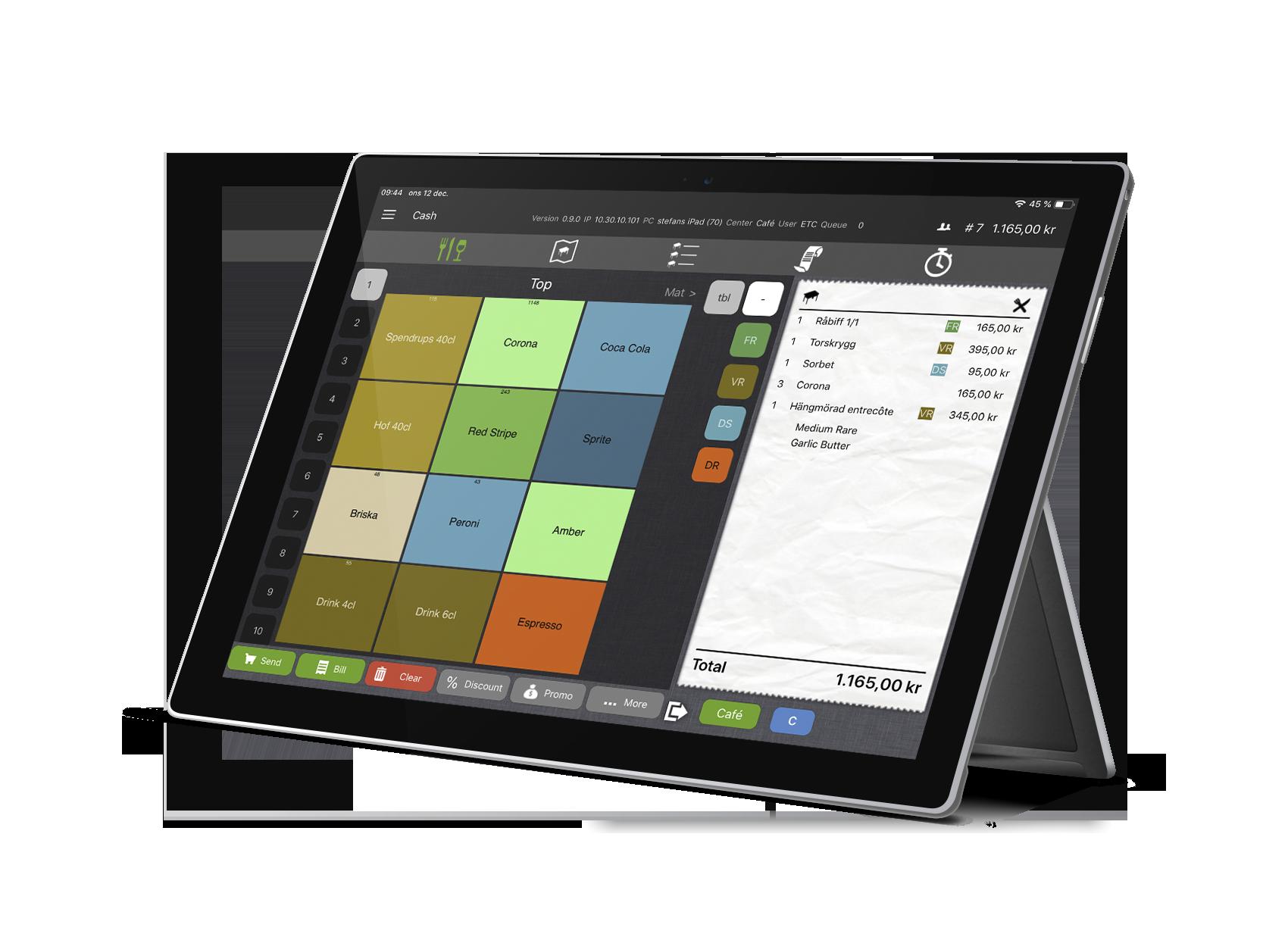 Trivec Go - Caisse enregistreuse mobile pour les restaurants